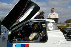 Car owner Steve Southard keeps a close eye on the progress of his BMW FABCAR