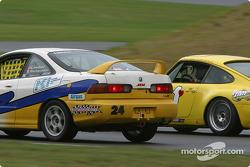 #24 Power Racing Team Acura Integra R: Jason Richardson, Andrew Linder, and #01 G&W Motorsports Porsche 993: Armando Trentini, Andres Van Der Dys