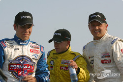 Kyle Krisiloff, A.J. Allmendinger and race winner Ryan Dalziel