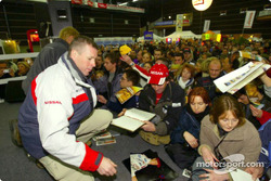 Autograph session for Ari Vatanen and Juha Repo