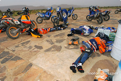 Riders get some rest