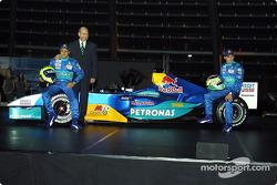 Felipe Massa, Peter Sauber and Giancarlo Fisichella