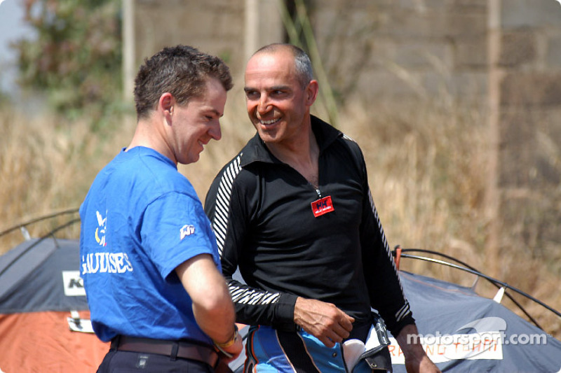 Richard Sainct and Fabrizio Meoni