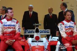 Olivier Panis, Cristiano da Matta with the new Toyota TF104