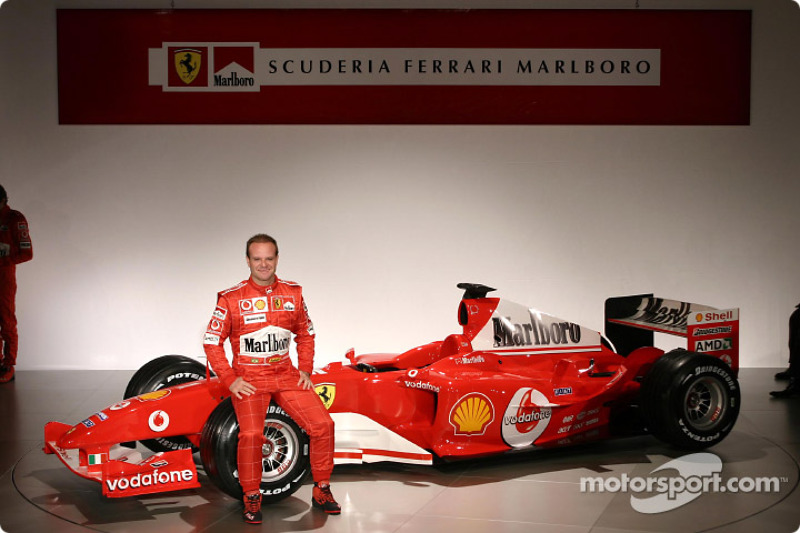 Rubens Barrichello ve yeni Ferrari F2004