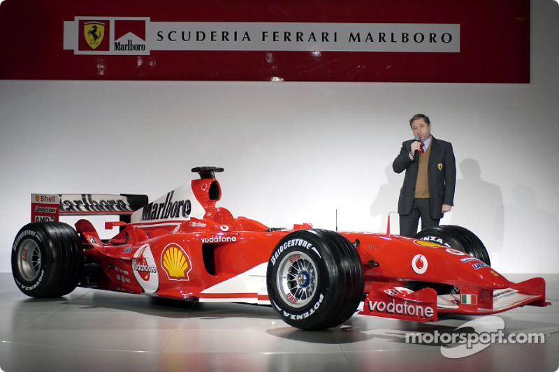 Jean Todt presents yeni Ferrari F2004