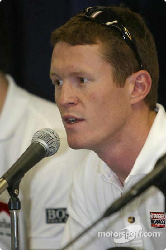 Conférence de presse des prétendants au titre 2003 : Scott Dixon