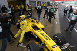 Nick Heidfeld with the new Jordan EJ14