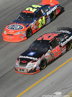 Kevin Harvick and Jeff Gordon