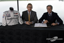 McLaren-Sparco presentation: Martin Whitmarsh and Diego Basso