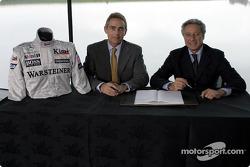 McLaren-Sparco presentation: Martin Whitmarsh ve Diego Basso