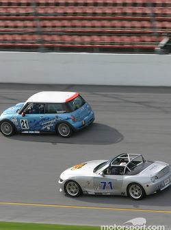 #21 Nuzzo Motorsports Mini Cooper S: Eugene McGillycuddy, Michael Ellis, Tony Nuzzo, and #71 TC Kline Racing BMW Z4: Ray Mason