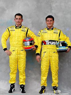 Photoshoot: Timo Glock and Giorgio Pantano