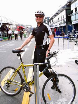 David Coulthard sur un évènement promotionnel