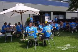 Renault paddock area