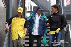 Drivers meeting: Nick Heidfeld and Felipe Massa