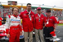 Cristiano da Matta with Ajay Malhotra, GM Intel Corp., Yoshio Ishizaka, VP Toyota Motor Corp., and Denso President Koichi Fukaya