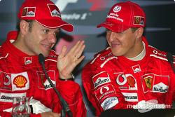 Winners press conference: Rubens Barrichello and Michael Schumacher