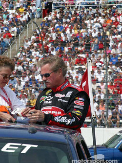 Terry Labonte signs an autograph