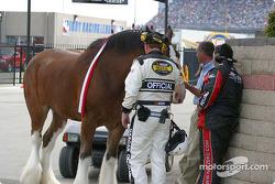 NASCAR official checks for horsepower