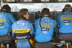 Jarno Trulli at Renault F1 pitwall