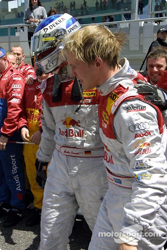 Mattias Ekström, Team Abt Sportsline, Audi A4 DTM 2004; Martin Tomczyk, Team Abt Sportsline, Audi A4