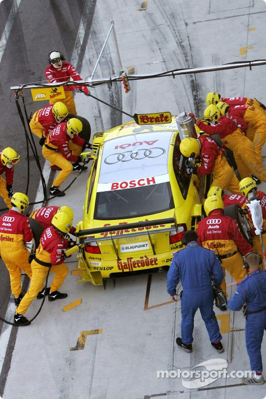 Boxenstopp: Tom Kristensen, Team Abt Sportsline, Audi A4 DTM 2004