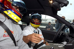 Juan Pablo Montoya and brother Federico in a BMW M3