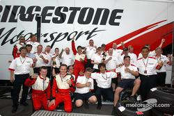Bridgestone team members celebrate