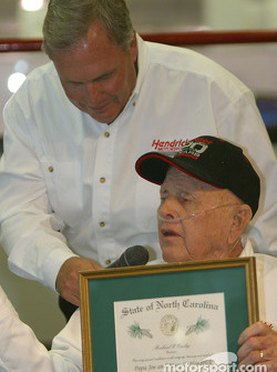 Papa Joe Hendrick award event: Rick Hendrick, Papa Joe Hendrick and the Order of the Long Leaf Pine