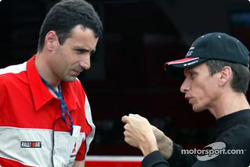 Gilles Panizzi and technical director Mario Fornaris