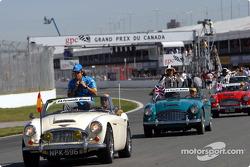 Fernando Alonso en el desfile de pilotos