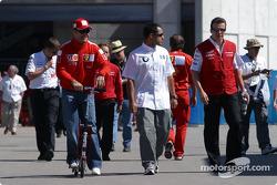 Rubens Barrichello, Juan Pablo Montoya and Olivier Panis