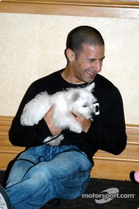 Tony Kanaan with his dog Lucky