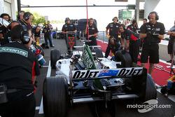 Minardi en pitstop
