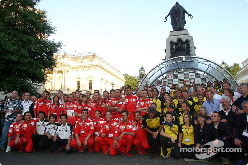 Ferrari, Honda ve Jordan takım elemanları