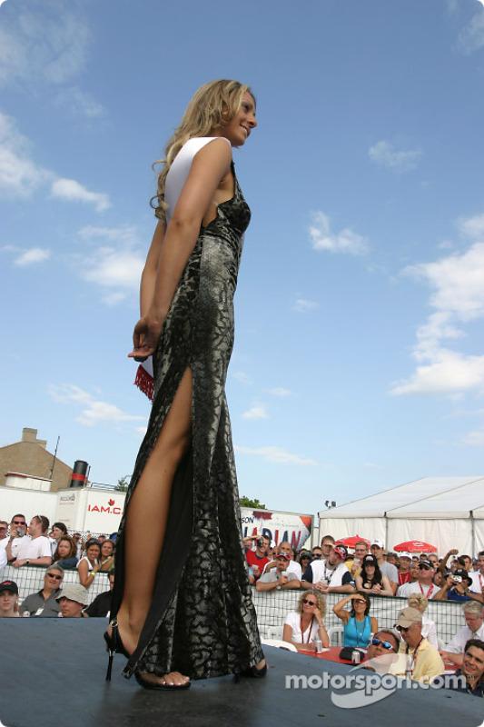 La compétition en robe de soirée