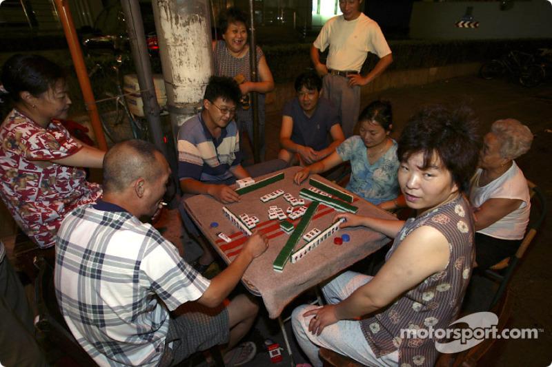 Locals play Mahjong