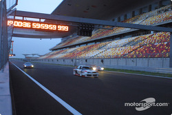 Audi Le Mans Quattro, Audi 90 IMSA-GTO and Audi R8 on the new Shanghai International Circuit