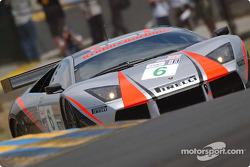 La Lamborghini Murcielago R-GT n°6 du Krohn-Barbour Racing (Tracy Krohn, Dave McEntee)