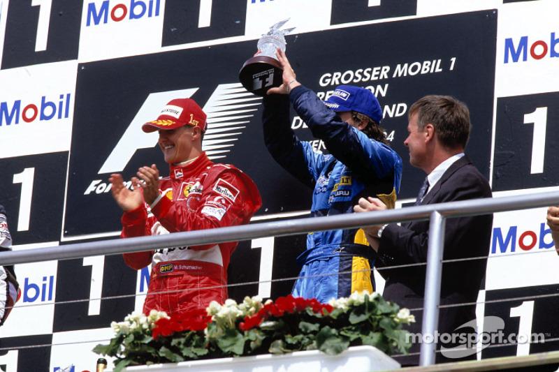 Подіум: переможець Міхаель Шумахер, третє місце - Фернандо Алонсо