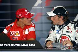FIA press conference: Michael Schumacher and Jenson Button