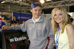 Mattias Ekström and singer Ana Johnsson