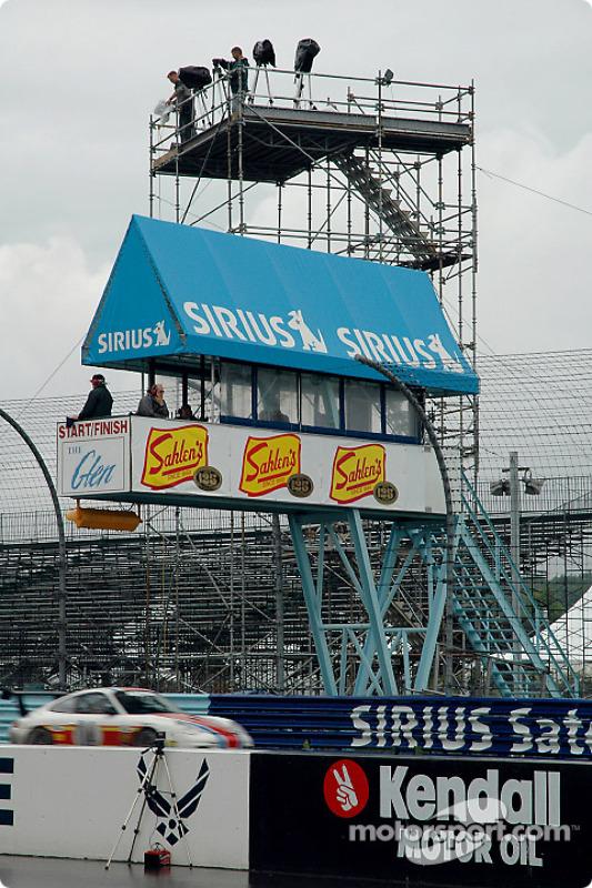 La tour de la ligne d'arrivée du Watkins Glen International