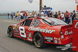 Dale Earnhardt Jr.'s car on the grid