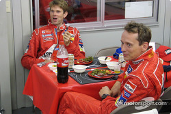 Dinner at service park for Marcus Gronholm and Timo Rautiainen