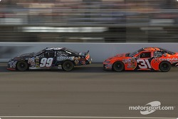 Robby Gordon sets up a pass on Carl Edwards