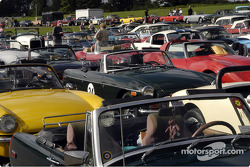 A sea of vintage cars for the Glenora Run