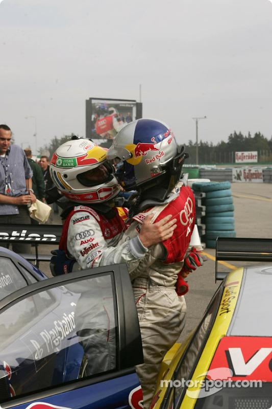 Tom Kristensen, Team Abt Sportsline, Audi A4 DTM 2004; Mattias Ekström, Team Abt Sportsline, Audi A4 DTM 2004