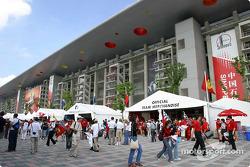 Fans behind main grandstand